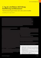 3. Tag der StB-Prüfung: Buchführung und Bilanzwesen