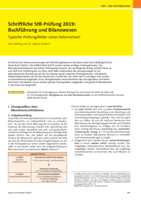 Schriftliche StB-Prüfung 2019: Buchführung und Bilanzierung