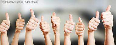 Begeisterte und erfolgreiche Kunden