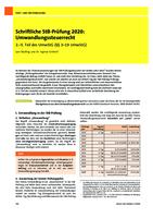 Schriftliche StB-Prüfung 2020: Umwandlungssteuerrecht