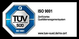 Qualitätsmanagementsystems DIN EN ISO 9001:2015 TÜV SÜD