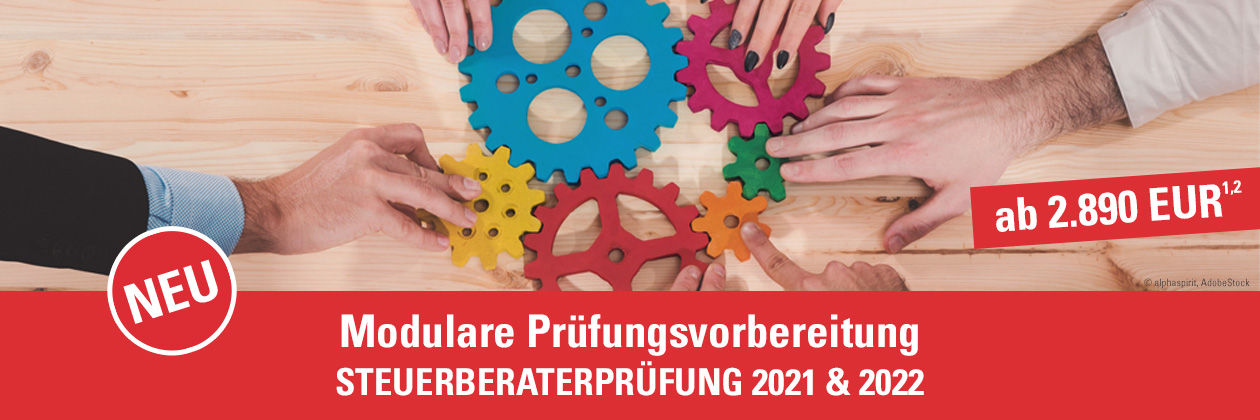 Modulare Prüfungsvorbereitung Steuerberaterprüfung 2021 & 2022