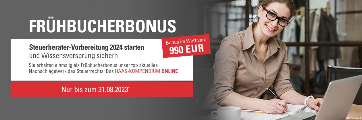 Frühbucherbonus: Vorbereitung STeuerberaterprüfung 2022